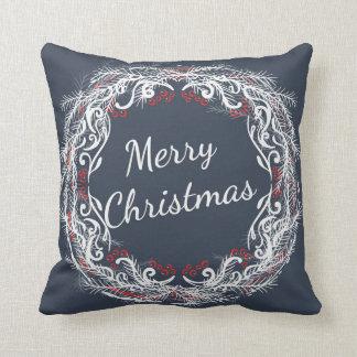 メリークリスマスのリースの枕 クッション