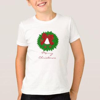 メリークリスマスのリースのTシャツ Tシャツ