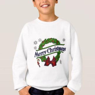 メリークリスマスのリース スウェットシャツ