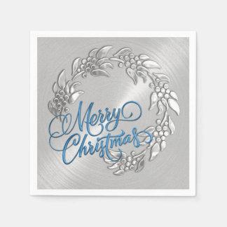 メリークリスマスのリース スタンダードカクテルナプキン