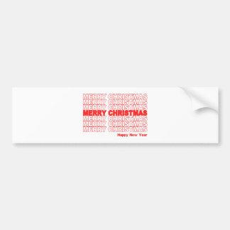 メリークリスマスのレトロの休日 バンパーステッカー