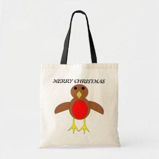 メリークリスマスのロビンのカスタムのギフトバッグ トートバッグ