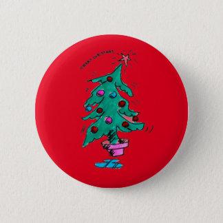 メリークリスマスの不安定な木Pin 5.7cm 丸型バッジ