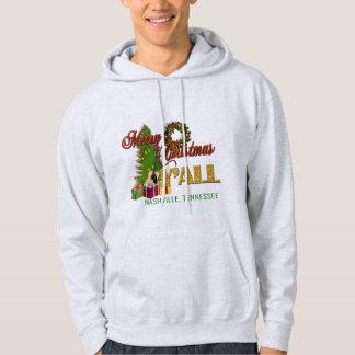 メリークリスマスの人のフード付きのスエットシャツ パーカ