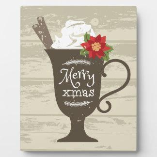 メリークリスマスの休日のアイスクリーム フォトプラーク