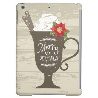 メリークリスマスの休日のアイスクリーム iPad AIRケース