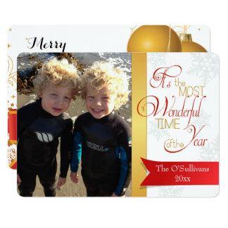 メリークリスマスの休日のカスタムな写真カード カード