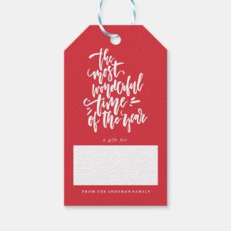 メリークリスマスの休日のクリスマスのギフトのラベル ギフトタグ