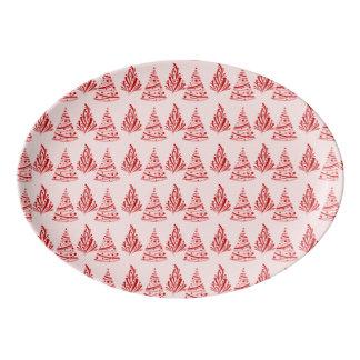 メリークリスマスの休日の磁器の配膳盆 磁器大皿