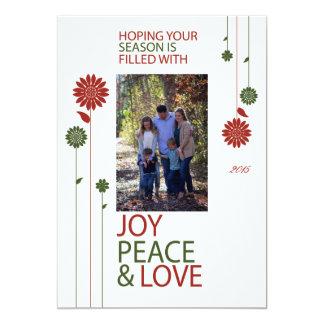 メリークリスマスの休日の花 カード