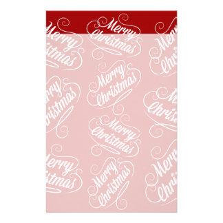 メリークリスマスの休日の赤く季節的なデザイン 便箋