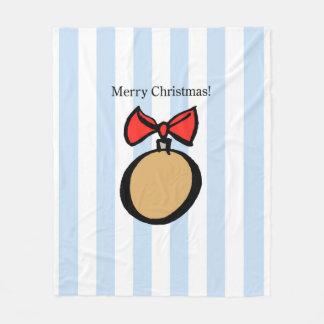 メリークリスマスの円形のオーナメントMed。 フリースブランケット