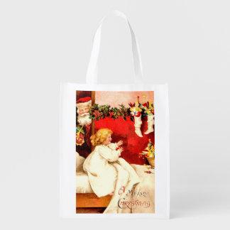 メリークリスマスの再使用可能な買い物袋 エコバッグ