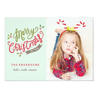 メリークリスマスの写真カード/愛らしく/かわいい カード