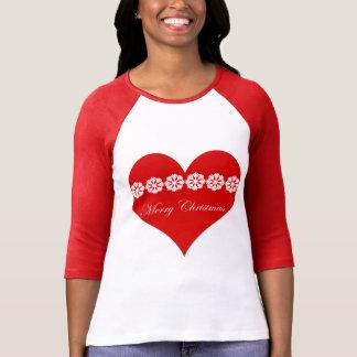 メリークリスマスの北欧人のハート Tシャツ