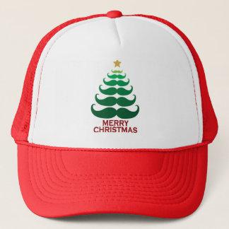 メリークリスマスの口ひげの木 キャップ