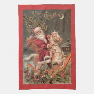 メリークリスマスの台所タオル キッチンタオル