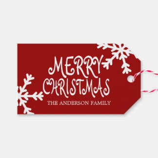 メリークリスマスの名前入りなギフトのラベル ギフトタグ