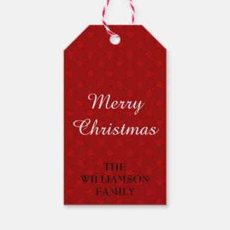 メリークリスマスの名前入りなクリスマスのプレゼントのラベル ギフトタグ