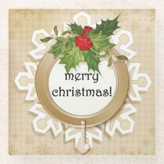 メリークリスマスの国 ガラスコースター