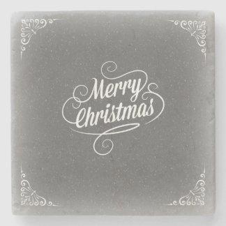 メリークリスマスの大理石の石のコースター ストーンコースター