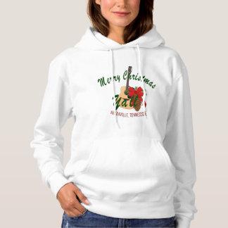 メリークリスマスの女性のフード付きのワイシャツ パーカ