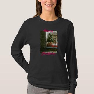 メリークリスマスの女性のLSのティー2 Tシャツ
