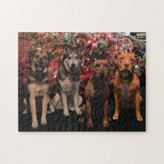 メリークリスマスの子犬のパズル ジグソーパズル