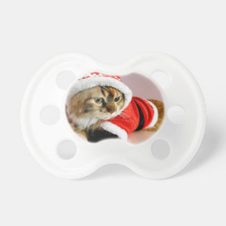 メリークリスマスの子猫猫のサンタのスーツ おしゃぶり