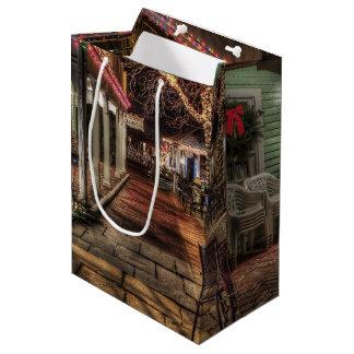メリークリスマスの家 ミディアムペーパーバッグ