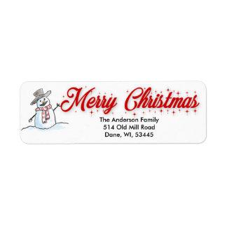 メリークリスマスの差出人住所ラベル ラベル