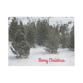 メリークリスマスの常緑樹の玄関マット ドアマット