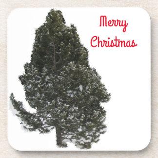 メリークリスマスの常緑樹-コースター コースター