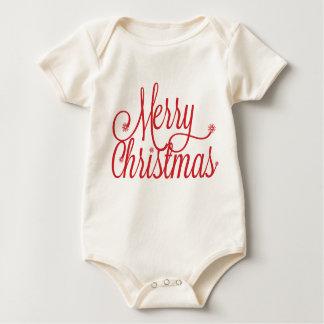 メリークリスマスの幼児 ベビーボディスーツ