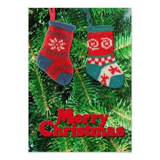 メリークリスマスの挨拶状 カード