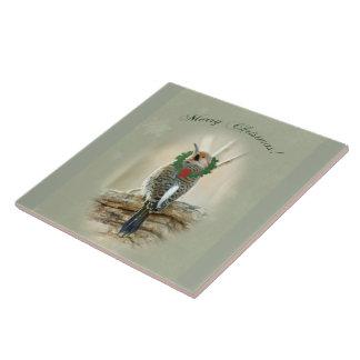 メリークリスマスの挨拶-北の明滅 タイル
