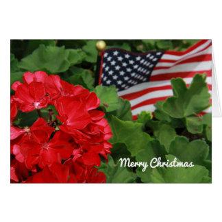 メリークリスマスの旗 カード