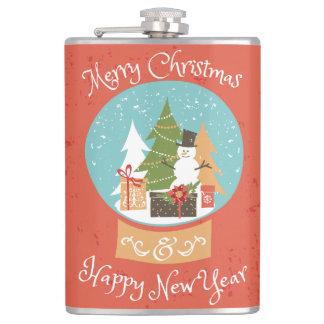 メリークリスマスの明けましておめでとう フラスク