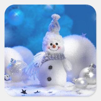 メリークリスマスの明けましておめでとう-嬉しい休日 スクエアシール
