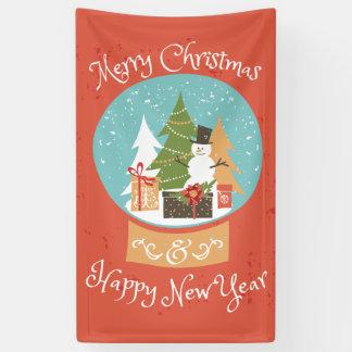 メリークリスマスの明けましておめでとう 横断幕