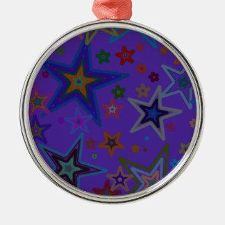 メリークリスマスの暗い紫色、星の天国の星 メタルオーナメント