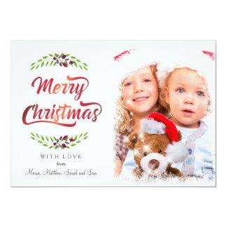 メリークリスマスの月桂樹赤いID293 カード