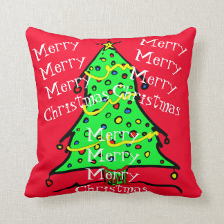 メリークリスマスの木のお祝いの休日の枕 クッション