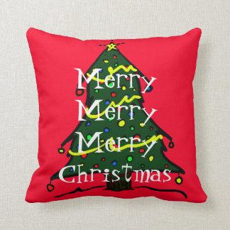 メリークリスマスの木のお祝いの休日の装飾 クッション