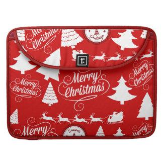 メリークリスマスの木のサンタのトナカイの休日 MacBook PROスリーブ
