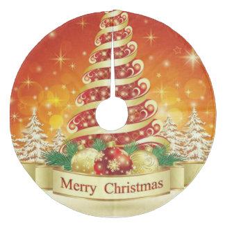 メリークリスマスの木のスカートまたはクリスマスツリー フリース ツリースカート