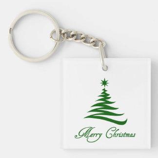 メリークリスマスの木の休日のキーホルダー キーホルダー