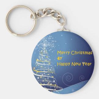 メリークリスマスの木の明けましておめでとう キーホルダー