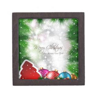 メリークリスマスの木のGreatingカード ギフトボックス