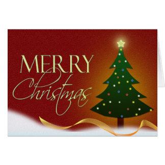 メリークリスマスの木カード カード